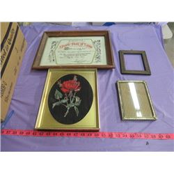 LOT OF ASSORTED FRAMES AND PICTURES (VARIOUS SIZES)