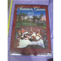 "1984 SUMMER GAMES PICTURE (NO FRAME) *24.5"" X 34.5""*"