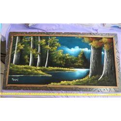 """VELVET FOREST PICTURE (MORAN) *49"""" X 26""""*"""