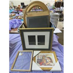 LOT OF ASSORTED PICTURES AND FRAMES (ASSORTED SIZES)