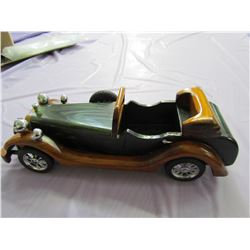 WOODEN COLLECTOR CAR (VERY NICE) *WINDSHIELD FRAME HAS BEEN REPAIRED*