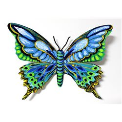 """Patricia Govezensky- Original Painting on Cutout Steel """"Butterfly CLXI"""""""