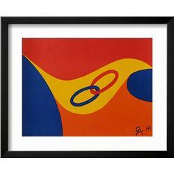 "Alexander Calder ""Flying colors II"" Custom Framed Lithograph"