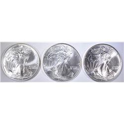 3-BU 1998 AMERICAN SILVER EAGLES