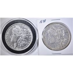 1878 AU & 1892-O VF MORGAN DOLLARS