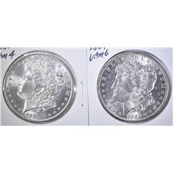 1883-O & 1884-O BU MORGAN DOLLARS