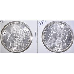 1896 & 1887 BU MORGAN DOLLARS