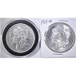 1894-O VF & 1902-O BU MORGAN DOLLARS