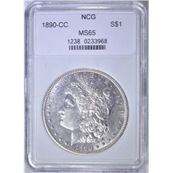 1890-CC MORGAN DOLLAR  NCG GEM BU
