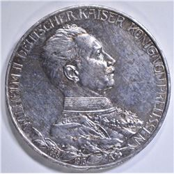1913A SILVER 3 MARKS PRUSSIA