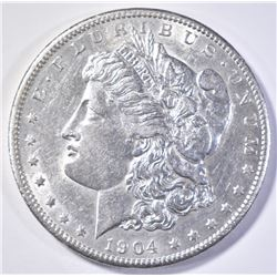 1904-S MORGAN DOLLAR  AU/BU