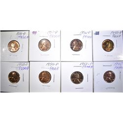 8 PROOF LINCOLN CENTS