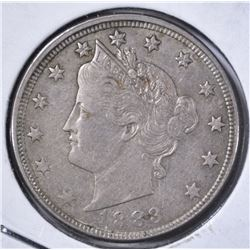 1883 LIBERTY NICKEL WITH CENTS XF
