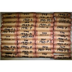 40 ROLLS MIX DATE WHEAT CENTS