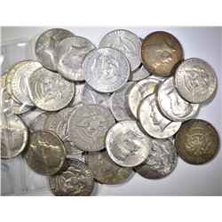 $15.00 FACE VALUE 40% SILVER HALF DOLLARS