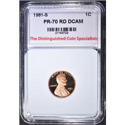 1981-S CENT, TDCS PERFECT GEM PR RED DCAM