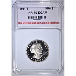 1981-S S.B.A. DOLLAR, TDCS PERFECT GEM PR DCAM