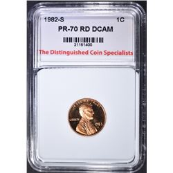 1982-S LINCOLN TDCS PERFECT GEM PR RED DCAM