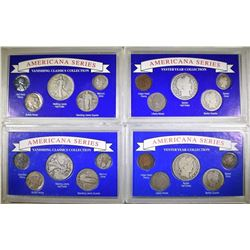 4 AMERICANA SERIES COIN SETS: