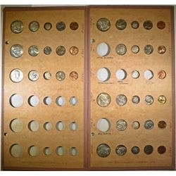 1955, 56, 57, 58 MINT SETS IN COLLECTOR BOARDS