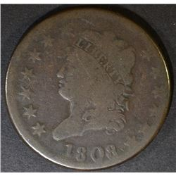1808 LARGE CENT  VG