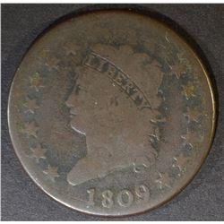 1809 LARGE CENT  VG