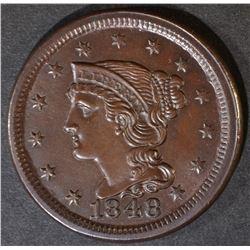 1848 LARGE CENT  GEM UNC