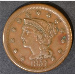 1857 LARGE CENT  XF  LARGE DATE