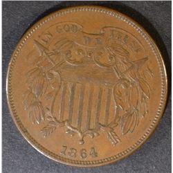 1864 TWO CENT PIECE  UNC