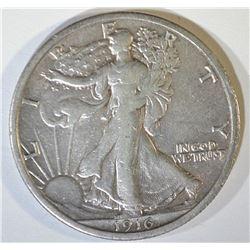 1916 WALKING LIBERTY HALF DOLLAR   XF