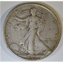 1918 WALKING LIBERTY HALF DOLLAR  XF