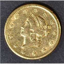 1849-O $1 GOLD LIBERTY  CH AU