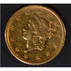 1852 $1 GOLD LIBERTY  UNC PL