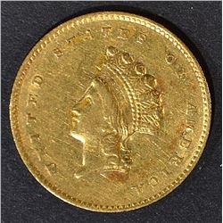 1855-O $1 GOLD LIBERTY INDIAN PRINCESS CH AU