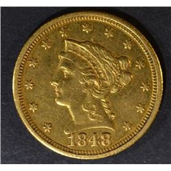 1848-C $2.5 GOLD LIBERTY  CH BU  OLD CLEANING