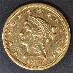 1873-S $2.5 GOLD LIBERTY  AU