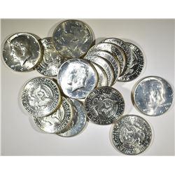 16 KENNEDY HALF DOLLARS  BU