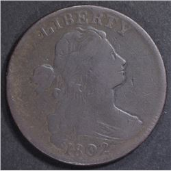 1802 LARGE CENT VF