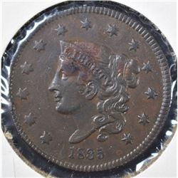 1835 LARGE CENT, XF/AU