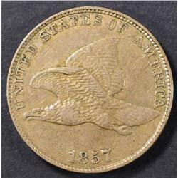 1857 FLYING EAGLE CENT XF/AU