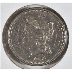 1865 3-CENT NICKEL, BU