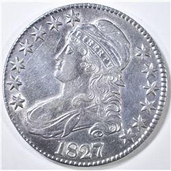 1827 BUST HALF DOLLAR CH AU