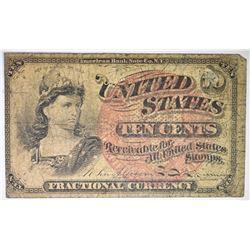 1863 FRIEDBERG FRACTIONAL TEN CENT  1257 CH UNC