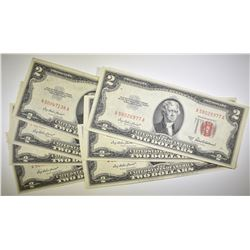7 1953-A $2 UNITED STATES NOTES  AU/UNC