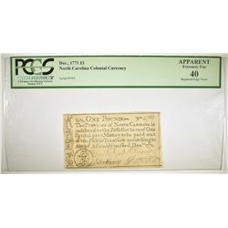 DECEMBER 1771 COLONIAL CURRENCY  PCGS XF-40