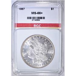 1887 MORGAN DOLLAR  GBC SUPERB GEM+