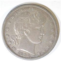 1896-S BARBER HALF DOLLAR  SOLID XF