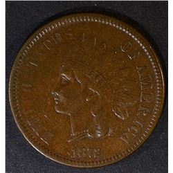 1872 INDIAN CENT  XF+