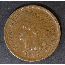 1909-S INDIAN HEAD CENT  XF+
