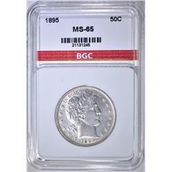 1895 BARBER HALF DOLLAR  BGC GEM BU